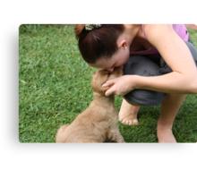 Feeling Emotional: Bye Little Pup Canvas Print
