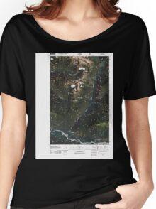 USGS Topo Map Washington State WA Huckleberry Mountain 20110425 TM Women's Relaxed Fit T-Shirt