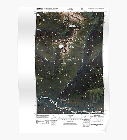 USGS Topo Map Washington State WA Huckleberry Mountain 20110425 TM Poster