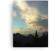 Silhouettes of Trees In The San Bernardino Mountains Canvas Print