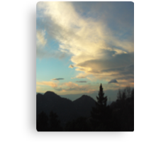 Silhouettes of Trees In The San Bernardino Mountains Canvas Print