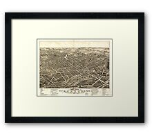 Panoramic Maps view of the city of Akron Summit County Ohio 1882 Framed Print