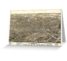Panoramic Maps view of the city of Akron Summit County Ohio 1882 Greeting Card