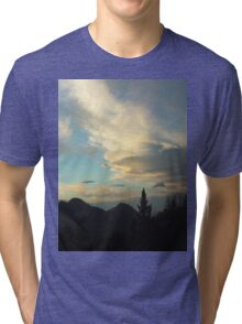 Silhouettes of Trees In The San Bernardino Mountains Tri-blend T-Shirt
