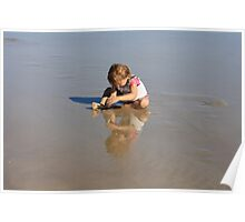 Reflection of Sand & Water Play Poster