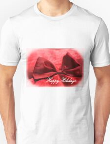 Happy Holidays Red Bow 1 Unisex T-Shirt