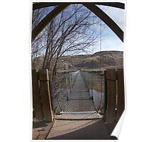 Drumheller Suspension Bridge Poster