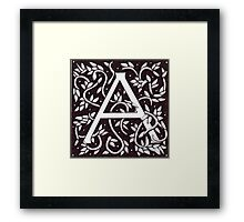 William Morris Inspired Letter A# 3 Framed Print