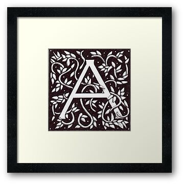 William Morris Inspired Letter A# 3 by Donnahuntriss