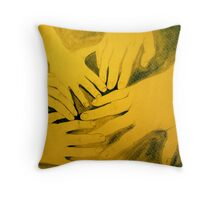 family hands portrait Throw Pillow