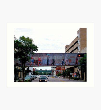 Colorful Crosswalk, Art District, Lincoln Nebraska Art Print