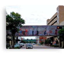 Colorful Crosswalk, Art District, Lincoln Nebraska Canvas Print