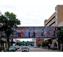 Colorful Crosswalk, Art District, Lincoln Nebraska Photographic Print