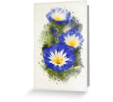 Morning Glory Watercolor Art Greeting Card