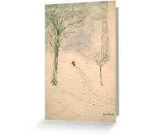 Winter Notes Greeting Card