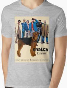 Airedale Terrier Art Canvas Print - Snatch Movie Poster Mens V-Neck T-Shirt