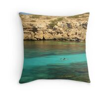 Coral Hunt Throw Pillow