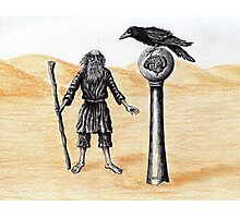 End of the Journey surreal pen ink color pencil drawing Photographic Print