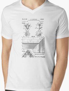 Lego Patent Of Corner Brick 2x2/45° Outside & Inside In Black Version Mens V-Neck T-Shirt