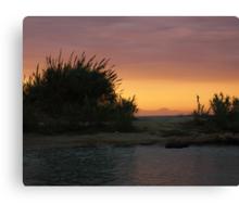 Sunset on Greco Beach Canvas Print