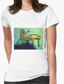 back to december coloured draw Womens Fitted T-Shirt