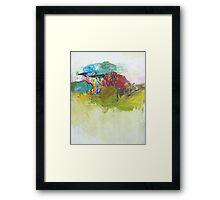 rain on hills Framed Print