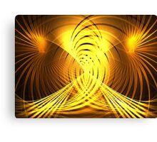 Golden Swirls Canvas Print