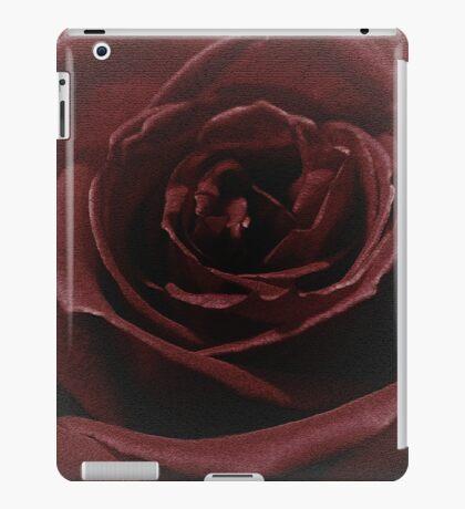 Textured Red Rose iPad Case/Skin