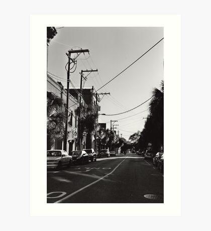 Telephone Wires Art Print