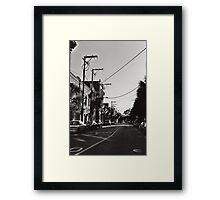Telephone Wires Framed Print