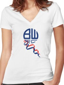 bolton wanderers logo 1 Women's Fitted V-Neck T-Shirt