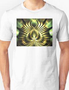Gold Leaf Lotus Unisex T-Shirt