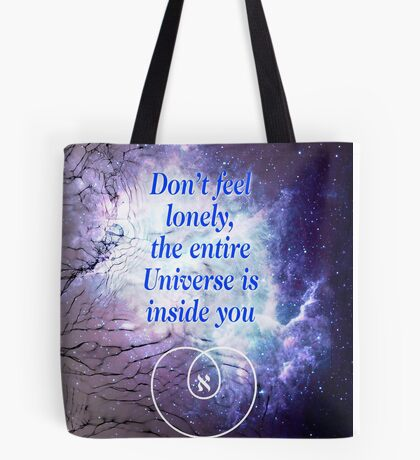 Rumi's Inspirational Quote Tote Bag