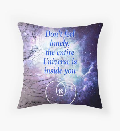 Rumi's Inspirational Quote Throw Pillow