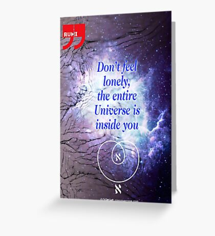 Rumi's Inspirational Quote Greeting Card