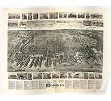 Panoramic Maps City of Hoboken New Jersey 1904 Poster