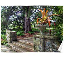 Stone Garden Steps, Skylands Manor, Ringwood NJ Poster