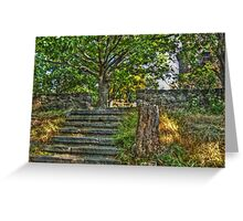 The Path to Lambert Castle Lookout Tower Greeting Card