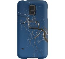 Silver and Blue - a Metal Tree Sculpture Plus Blue Sky and Sunshine Samsung Galaxy Case/Skin