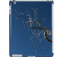 Silver and Blue - a Metal Tree Sculpture Plus Blue Sky and Sunshine iPad Case/Skin