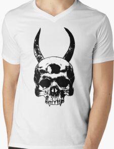 Nuclear Satan Skull Mens V-Neck T-Shirt