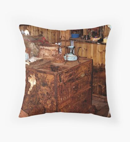 Explorer's Hut Interior #1 Throw Pillow