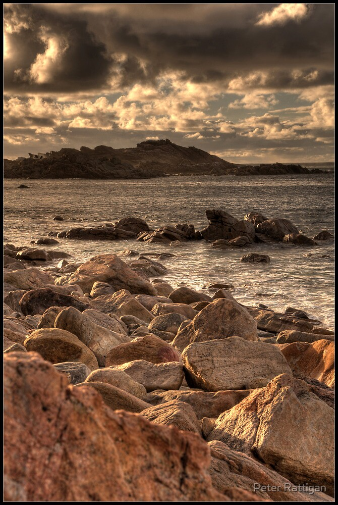 Canal Rocks Sunset 3 by Peter Rattigan