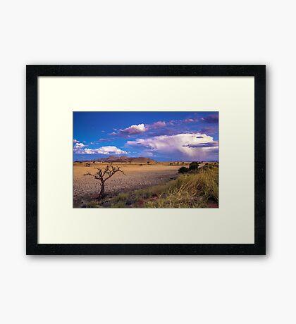 The Desert at Dusk Framed Print