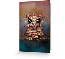 little rainbow flower owl Greeting Card