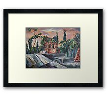The Buen Retiro park Framed Print