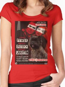 Cairn Terrier Art - Witness for the Prosecution Movie Poster Women's Fitted Scoop T-Shirt