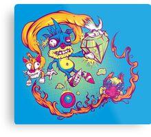 Sahnic Staaaahp! (blue background) Metal Print