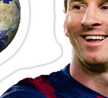 Messi - Out of this world Sticker