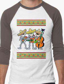 los músicos de los muertos Men's Baseball ¾ T-Shirt